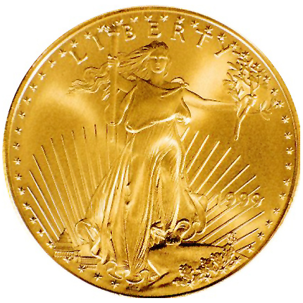 Gold eagle. Creative Commons.