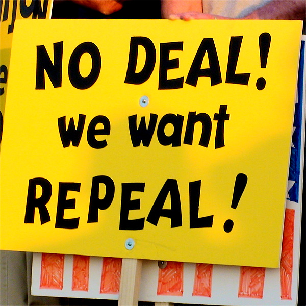 No deal! We want repeal! Photo Credit: NObamaNoMas on Flickr.