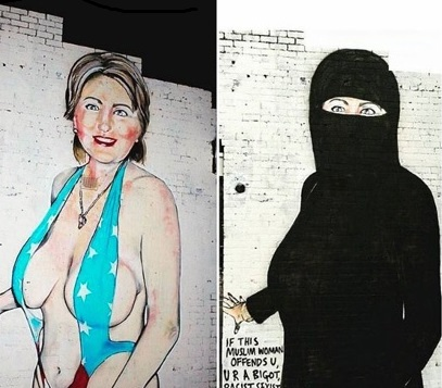 Australian City Council Goes Apoplectic Over Clinton Mural