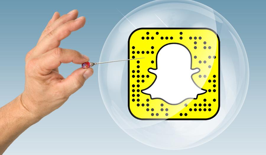 snapchat market bubble