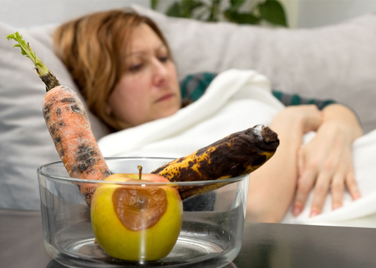 stomach flue food poisoning