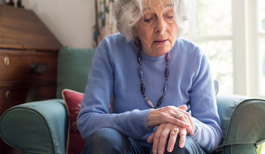 older woman with parkinsons