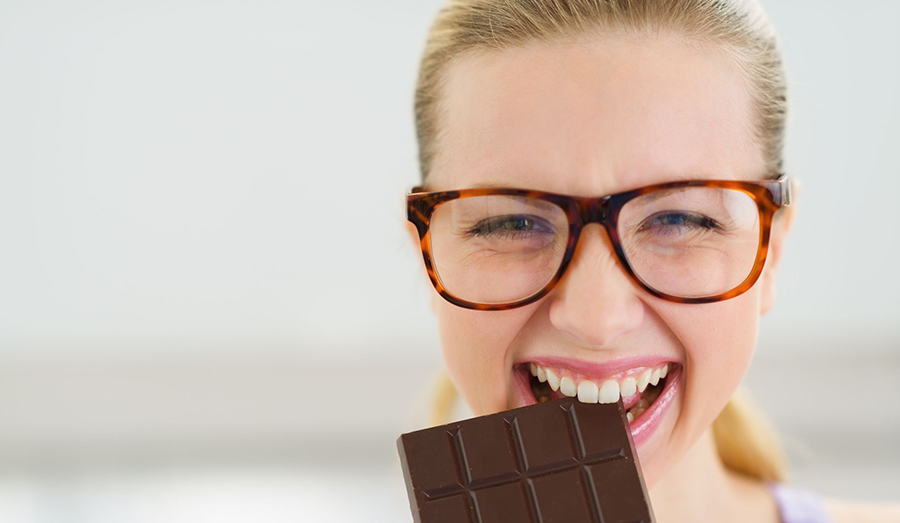 young girl enjoying chocolate