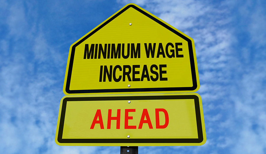 minimum wage increase sign