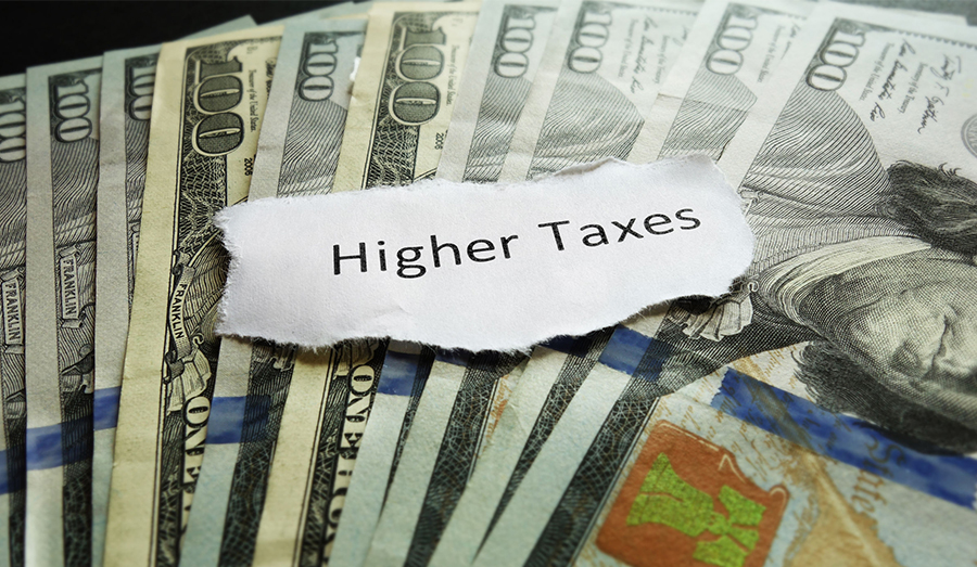 Higher Taxes with dollars