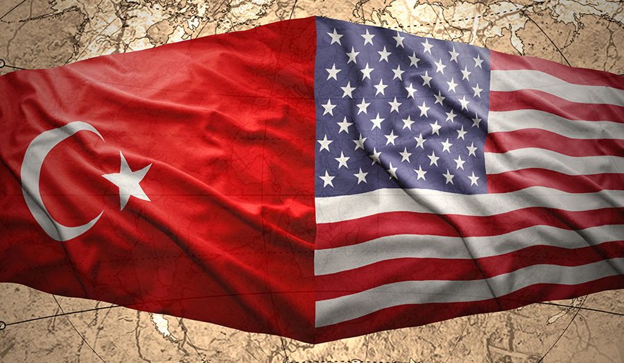 USA and Turkey flags
