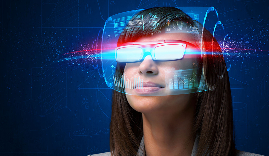 women with VR glasses on