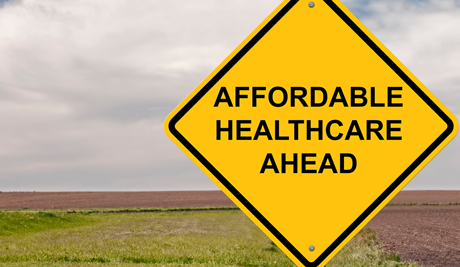 affordable healthcare ahead sign