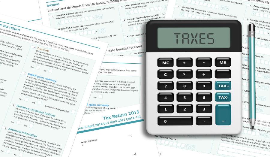 taxes on the calculator