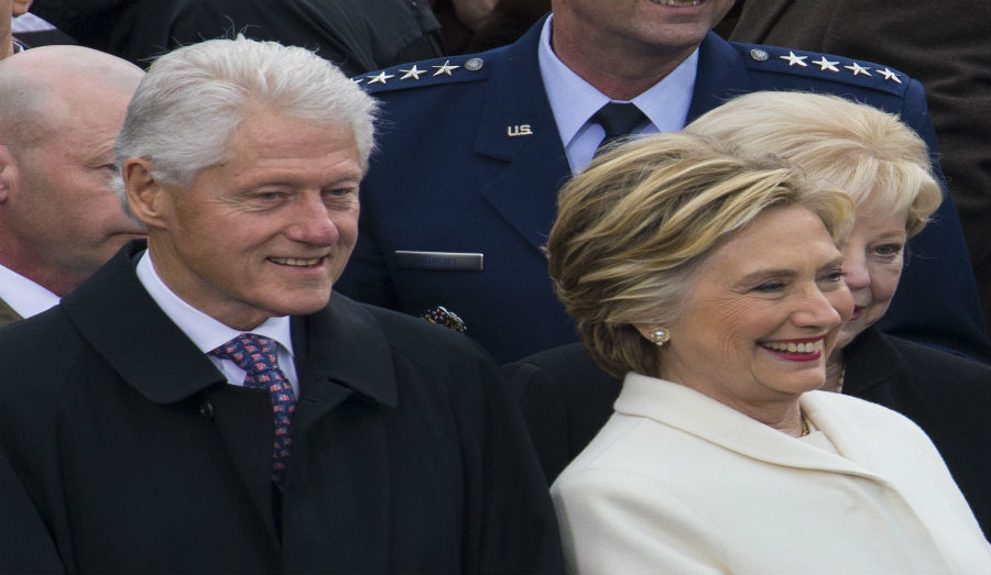 Bill and Hillary Clinton at 58th Inauguration 01-20-17 (cropped)