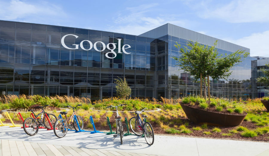 Outside of Google headquarters