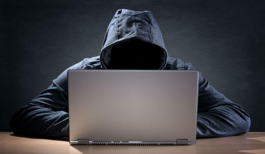 hacker on computer