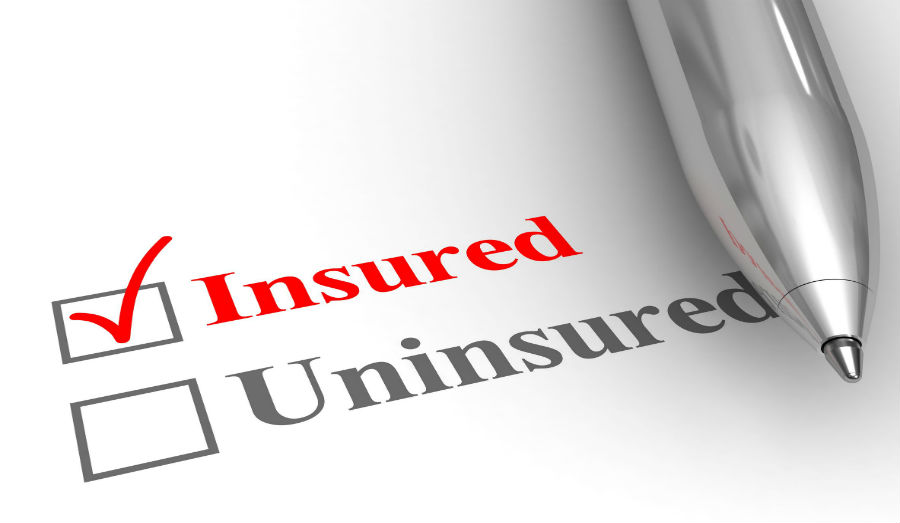 Insured or Uninsured check boxes