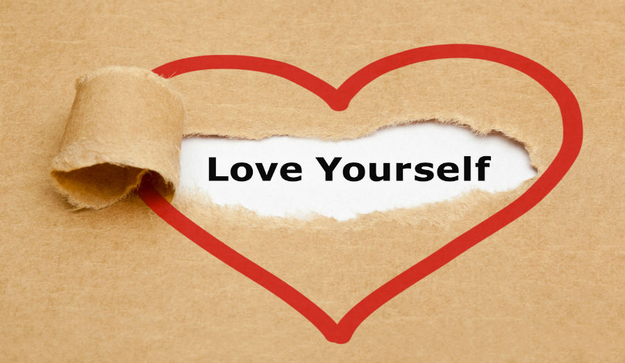 love yourself sign in heart