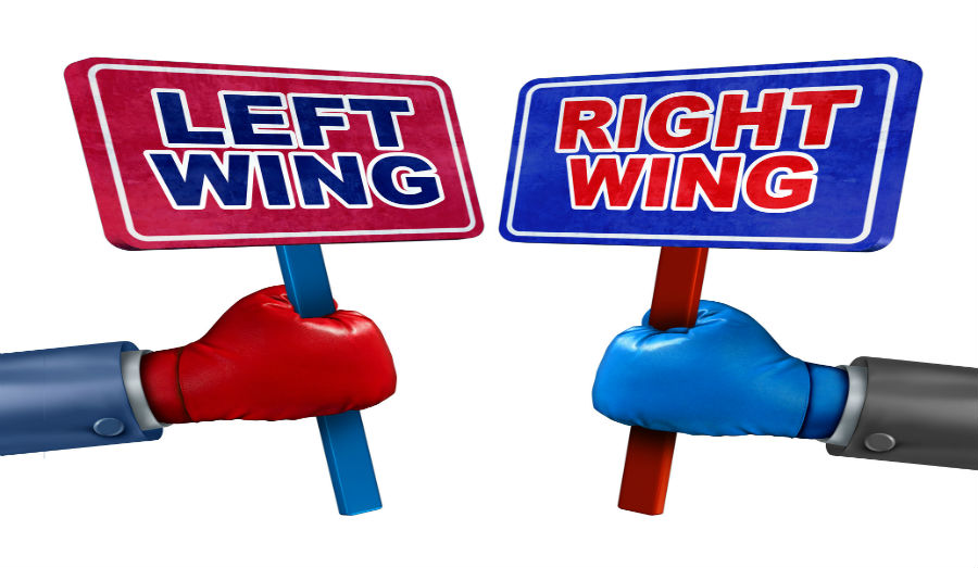 left wing right wing sign