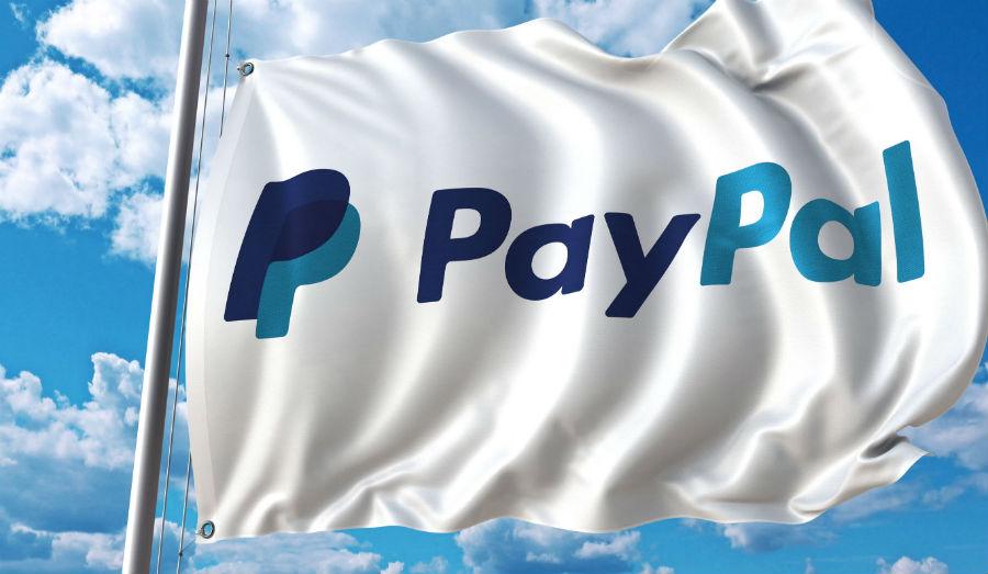 PayPal waving flag