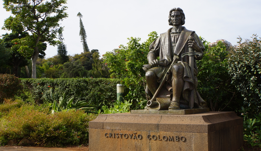 Statue of Christopher Columbus in Madeira