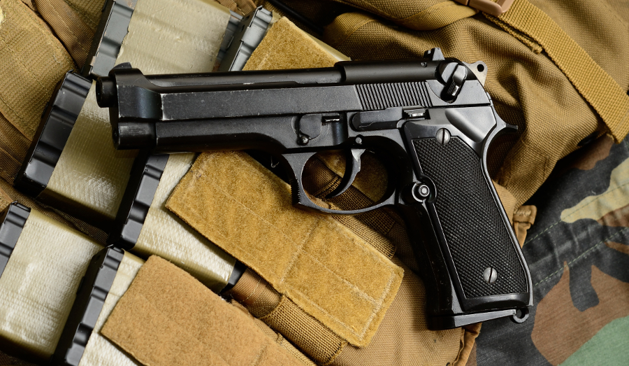 The Beretta 92 pistol