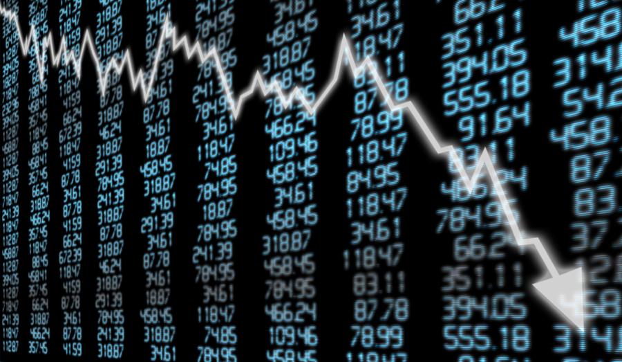 Dow Jones dropped nearly 800 points