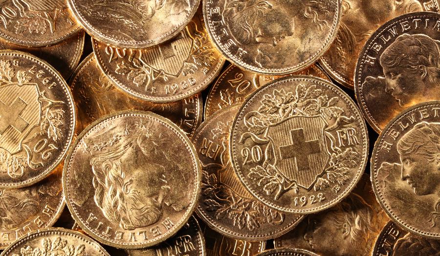 Swiss Vreneli 20 franc gold coin