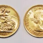 Queen Elizabeth II gold sovereign coin