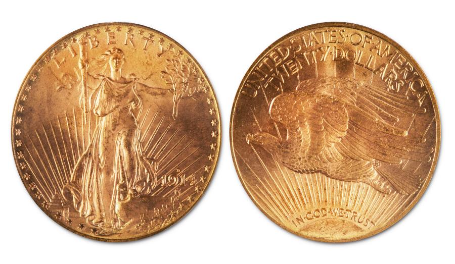 1914 Saint-Gaudens Double Eagle gold coin