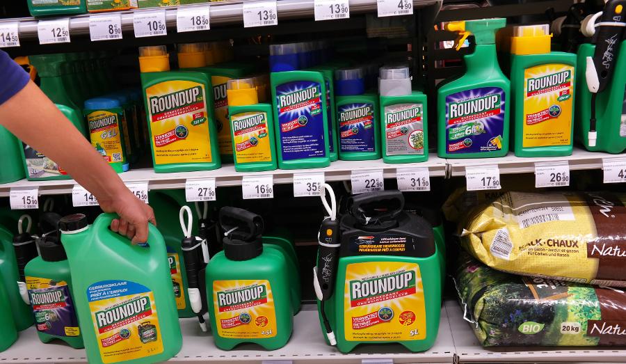 Monsanto's Roundup pesticide on store shelves