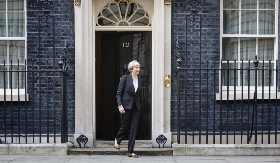 Theresa May leaving 10 Downing Street
