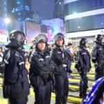 Hong Kong police at 2014 protests