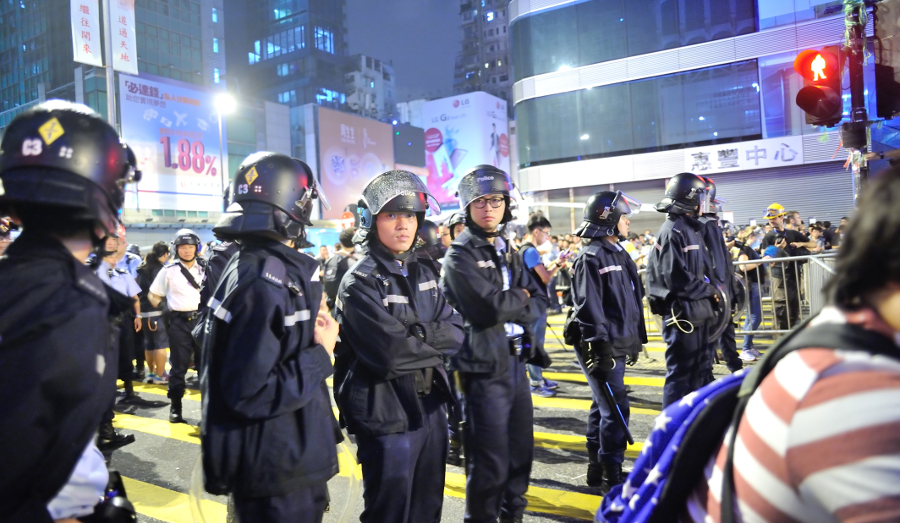 Hong Kong police at 2014 protests