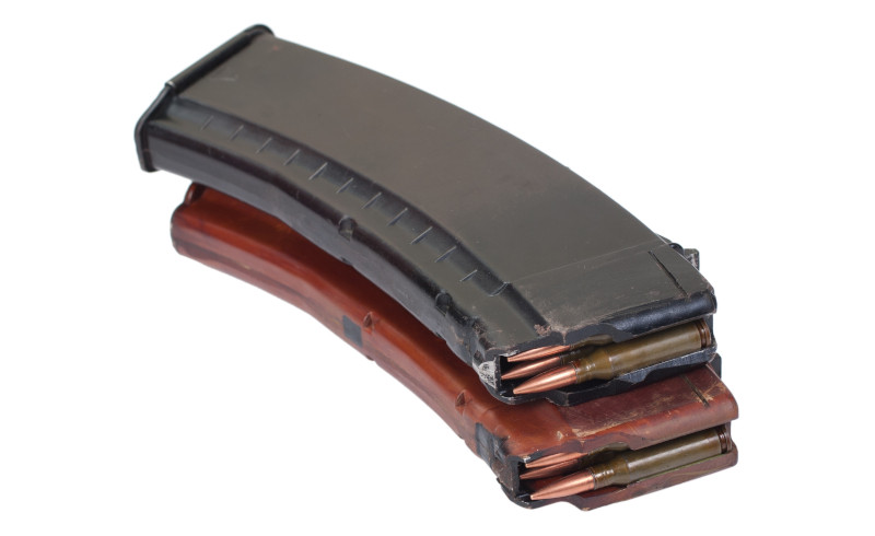 loaded AK-74 magazines