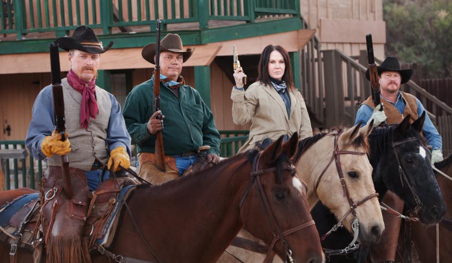 posse in the Wild West