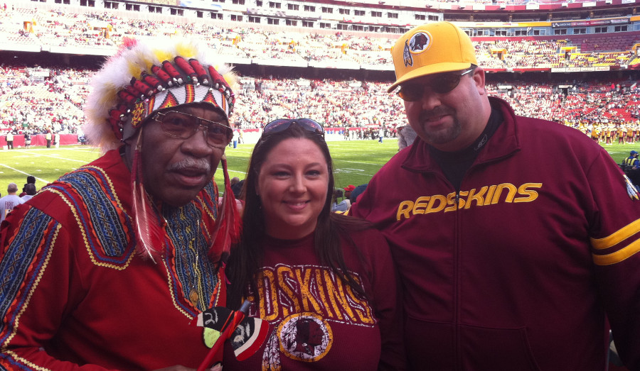 Redskins fans, including Chief Zee