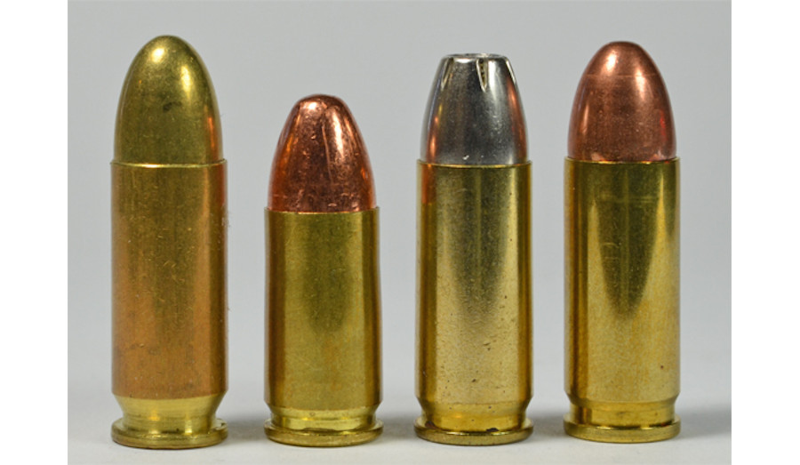 9mm Largo, 9mm Luger, 9x23 Winchester, and 9mm Steyr